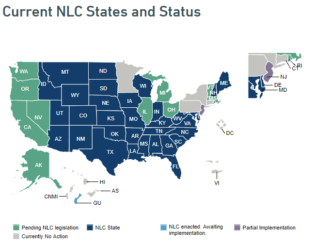 Current NLC states Map